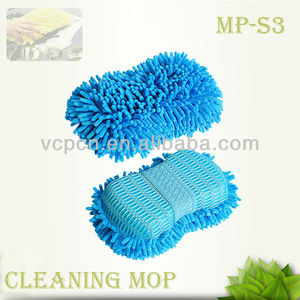 Microfiber Cleaning Mop Pad Microfiber Chenille Cleaning Gloves Sponge Mop Pad For Car Kitchen Floor Cleaning (MP-S3)