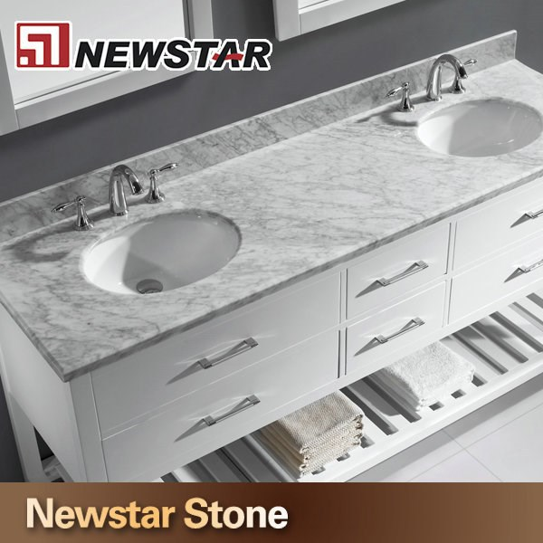 Prefabricated Bathroom Countertops: Chinese Polished Granite Marble Prefab Bathroom Double