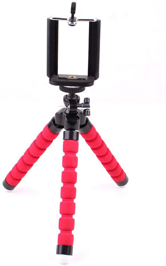 Phone Mini Camera Triangle Bracket, Soft Deformable Non Slip Camera Bracket Octopus Bracket Sponge Triangle Bracket Octopus Tripod Mobile Phone Holder Selfie Tripod - Include Phone Clip