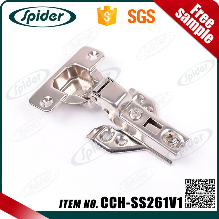 Full overlay Stainless steel 304 Concealed Hydraulic kitchen cabinet furniture hinges-two way hinge