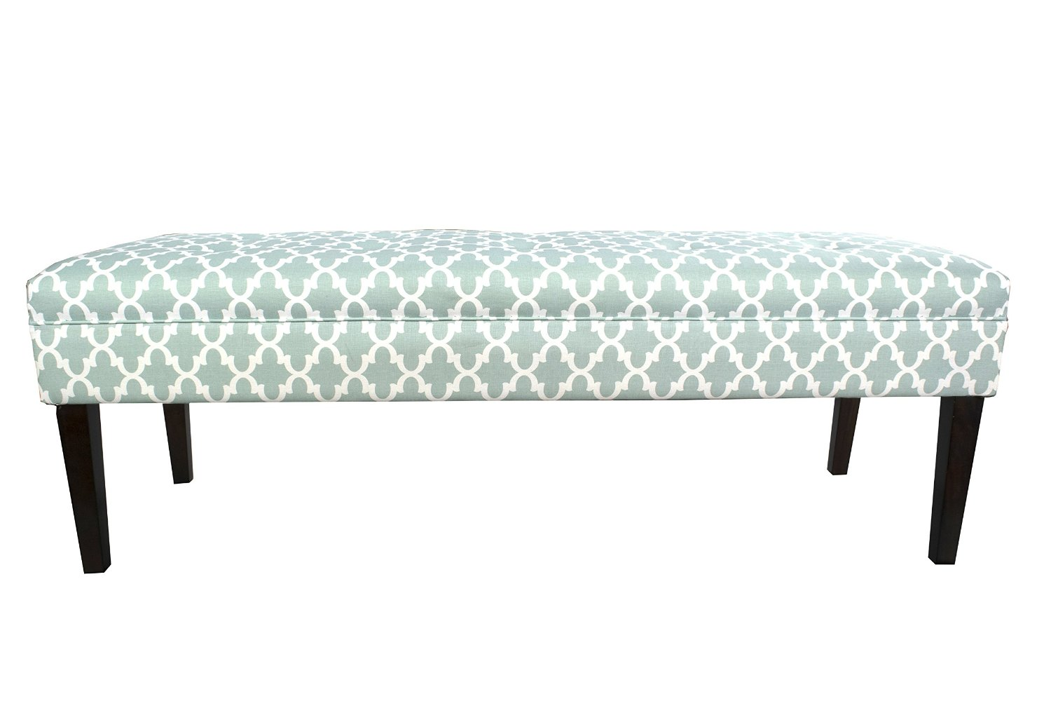 MJL Furniture Designs Kaya Collection Upholstered and Padded Button Tufted Accent Bedroom Bench, Fulton Series, Snowy