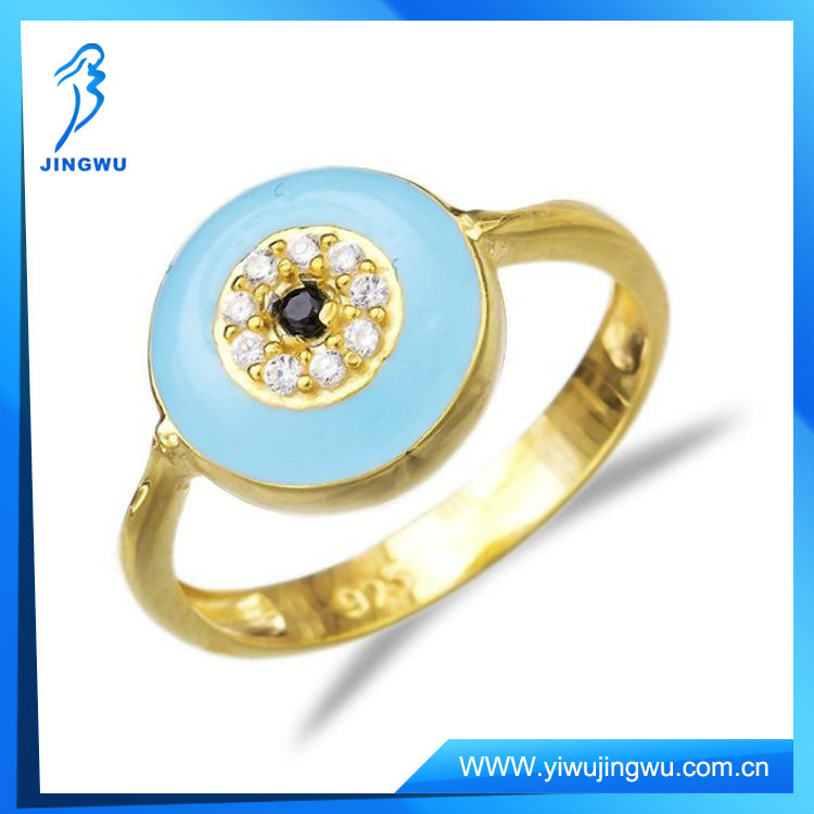 Fashion Rings Wholesale Turkish Baby Blue Evil Eye Ring