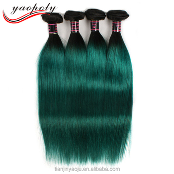 Brazilian ombre hair extensions straight two tone color 1bgreen brazilian ombre hair extensions straight two tone color 1bgreen human hair weave pmusecretfo Gallery