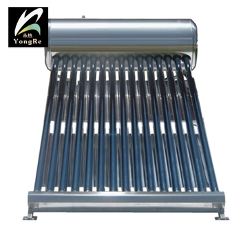 Non pressure solar water heater all stainless steel 150 liters house using bathroom with assistant tank
