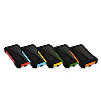 High quality Waterproof Solar Powerbank 10000mah for Mobile phone with OEM logo design
