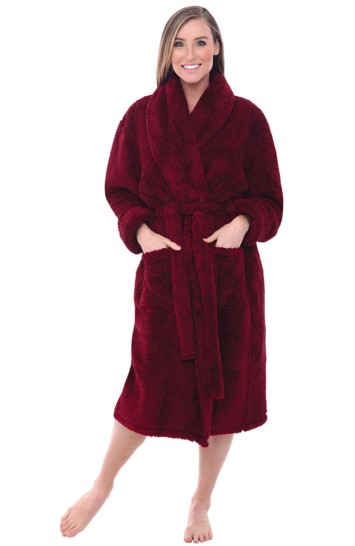61c319e976 Buy Alexander Del Rossa Women  39 s Microfiber Fleece Bathrobe Robe ...