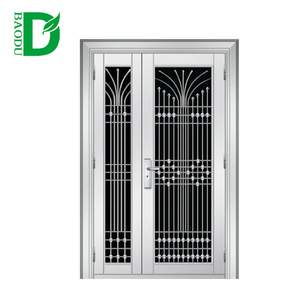 Nigeria Iron Main Entrance Doors Grill Design Used For House Door