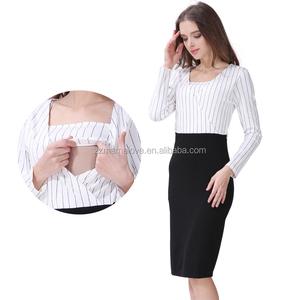 8c973d0b3da47 2018 New Arrival Mamalove Spring Long Sleeve Maternity Clothes Nursing Wear  Offical Dress Breastfeeding Dress