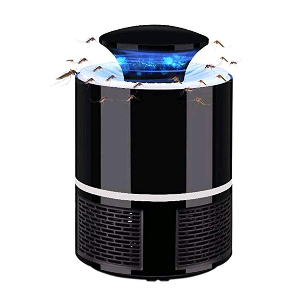 DONGYIS Mosquito Killer,Chemical-Free USB Powered Uv Led Light,Safe and Effective Indoor Trap for Kids Baby,Electronic Mosquito Trap Lamp,Bug Zapper with Eco-Friendly for Indoor, Black