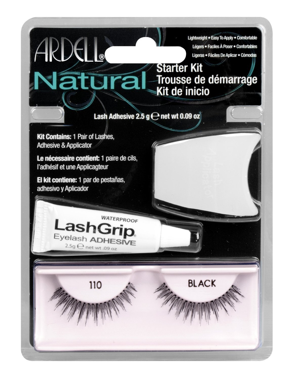 465f4bed85a Get Quotations · Pack of 2-Ardell Natural Starter Kit Lashes, 110 Black