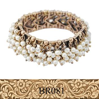 Fancylove Jewelry New Design Elegance Las Customized Pearls Bracelets Fashion Vintage Style Bangle