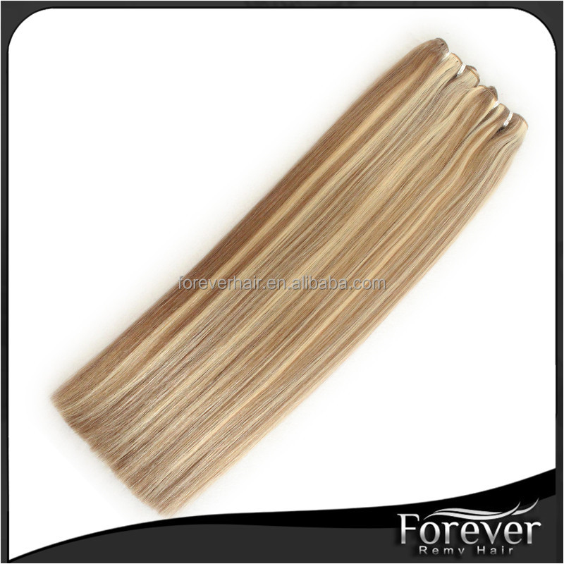 #8/24 20inch REal remy high quality double drawn indian remy hair weave extensions