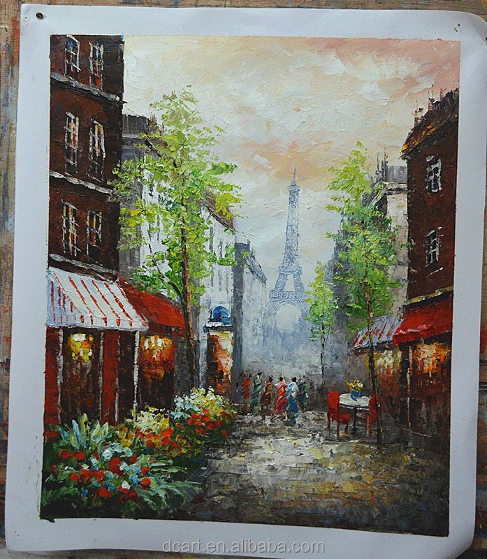 Knife paris street oil painting stock i want to sell my paintings