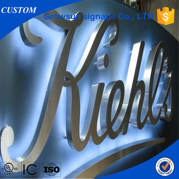 Build Up Metal Logo Wall Mounted Office Wall Letters