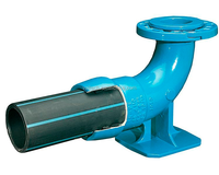ductile iron pipe fittings flange socket 90 degree duckfoot equal elbow bend for Distribution network of potable water