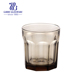 amber color glass drinkingware bar rock glass cup