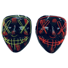 LED Full Face Maske Licht Up Halloween-Party Maske