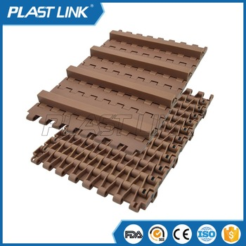 Plast Link 5935 slat top modular belt with small baffle