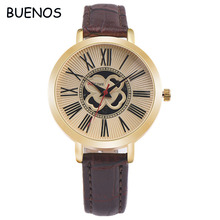 Simple Fashion Vintage Rome Style Leather Band Quartz Watch for Men and Women