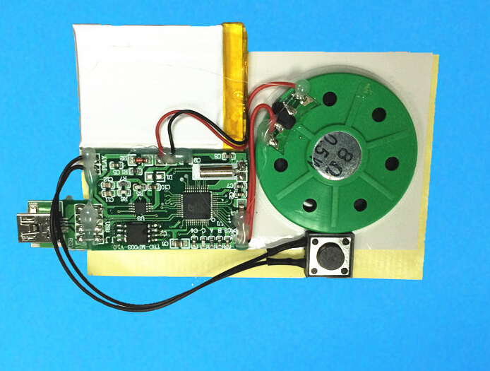 OEM custom speaker type USB recordable MP3 sound module for plush toys,greeting cards