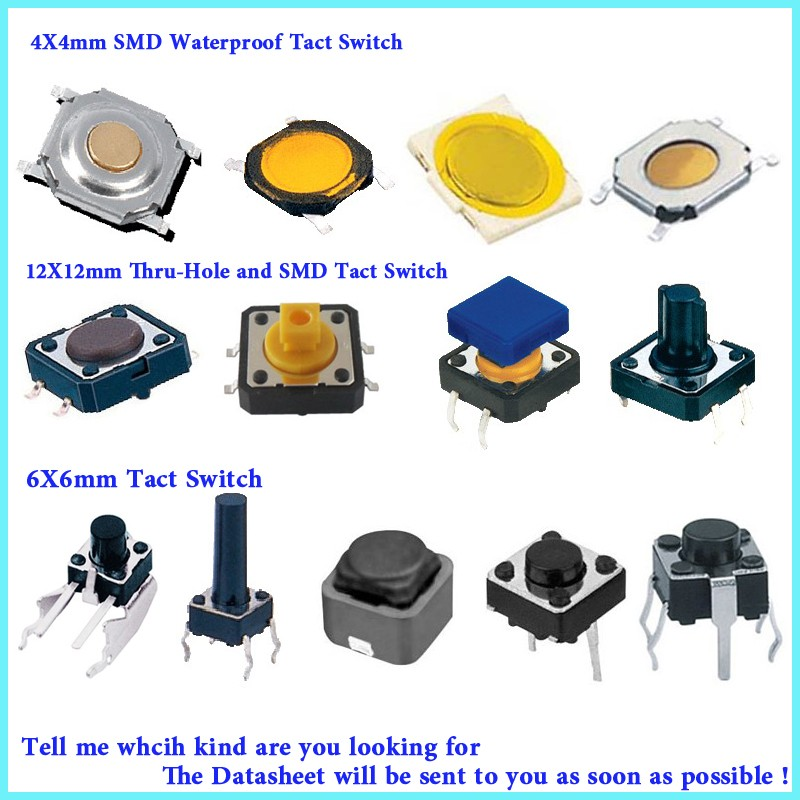 tact switches 6x6 smd types, View tactile switches, Eker Product ...