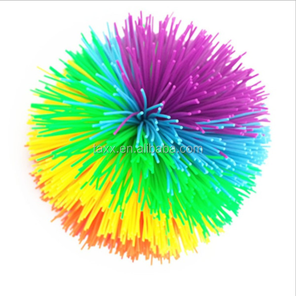 Multi-color 4-10cm Silicone Koosh toy ball for sale