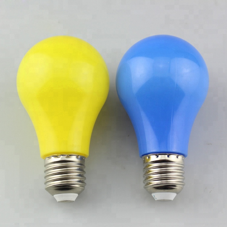 New Products Led a60 color light bulb 5w <strong>e27</strong>,PC cover CE & ROHS