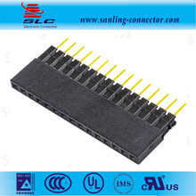 Straight Single Row Dual Body 2.54mm pitch female header plastic height8.5 Y terminal Header