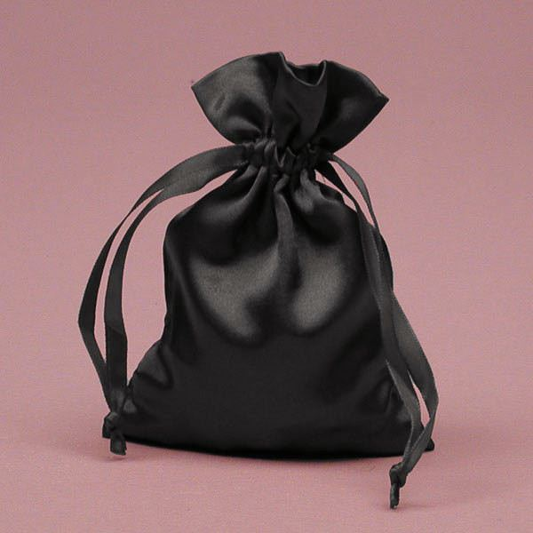 Extra Large Satin Drawstring Bag Black And White Party Bags Card Corded Handle Storage Product On Alibaba
