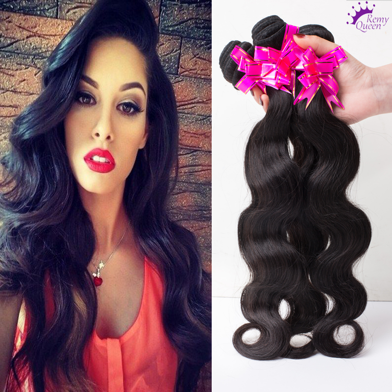 Remy Queen hair brazilian body wave 7A Grade Brazilian Virgin Hair Body Wave 3 Bundles virgin