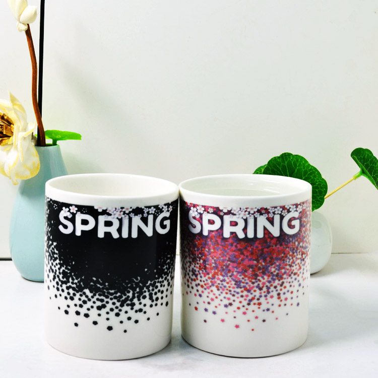 China supplier unique style magic color change ceramic cups for sublimation