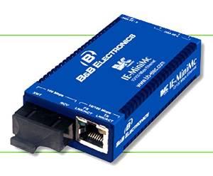 B&B/IMC IE-MiniMc, TP-TX/FX-MM1300-SC - 1 x RJ-45 , 1 x SC Duplex - 10/100Base-TX, 100Base-FX - Wall-mountable