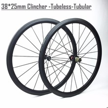 38mm carbon wheelset 700c carbon light, Winow 38mm depth carbon fiber 700c wheelset 25mm width