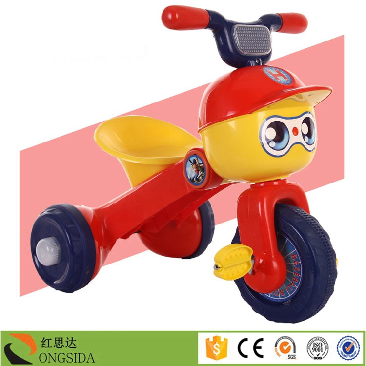 2016 China Top Sale Lovely Foldable Cartoon Children Toys Tricycle Car