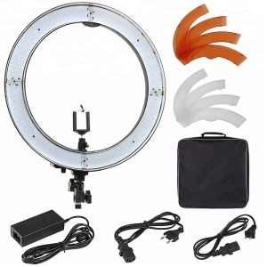 Ereise 18 inch Camera Photo Studio Phone Video 55W 240PCS LED Ring Light 5500K Photography Dimmable Ring Lamp
