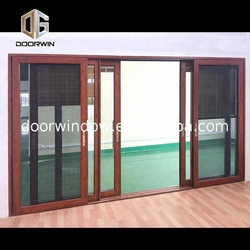 aluminum double open glass sliding door