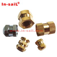 DIN16903 brass hex nut molded-in threaded inserts
