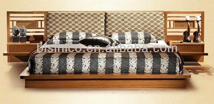 design japonais meubles de chambre à coucher en bois ensemble ... - Meuble Design Japonais