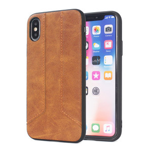For iphone x pu leather case,for iphone x case brown leather