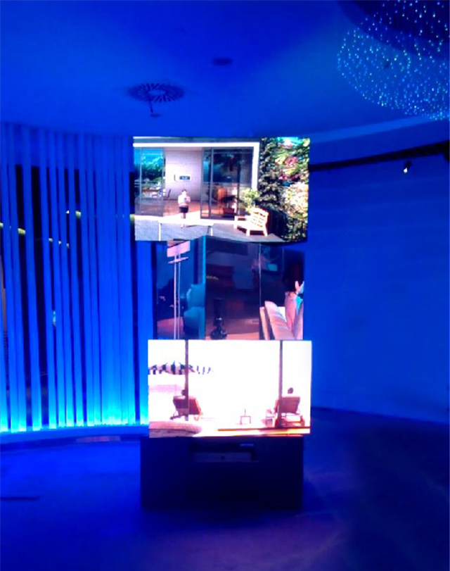 Indoor LED display Cube three-floor rotating billboard advertising banners
