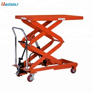 Mini lift platform 1000kg 1700mm double scissor manual lift table