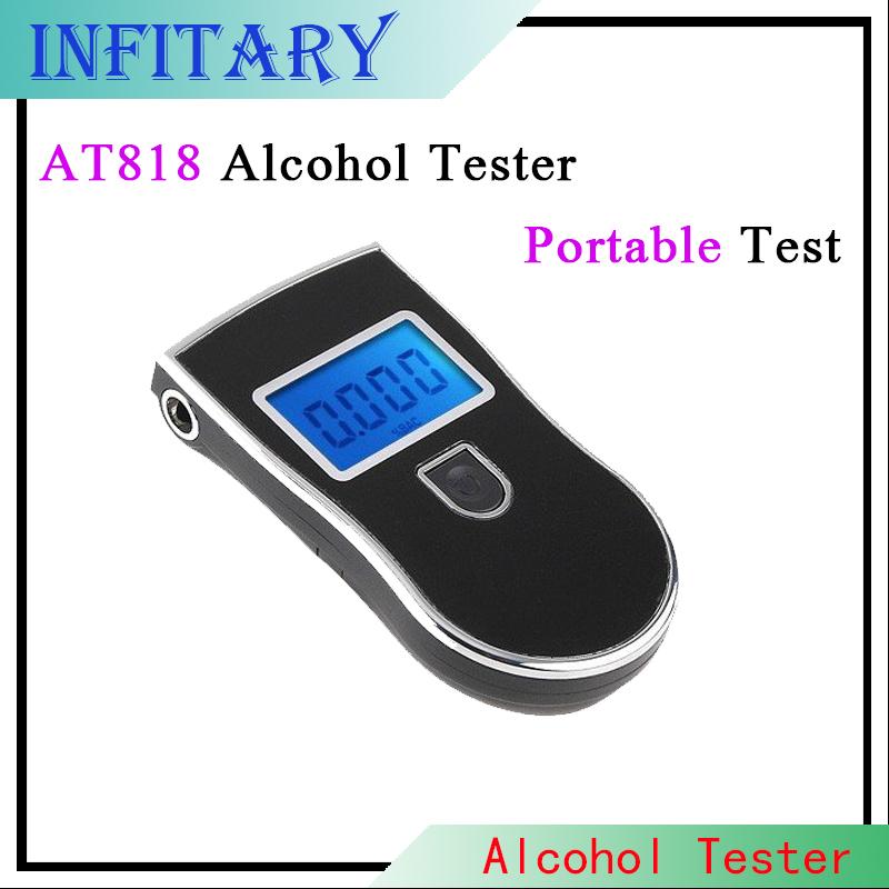 At818 полиция черный алкоголя в выдыхаемом воздухе анализатор детектор алкотестер тестер автомобиль - детектор alcoholmeter бесплатная доставка