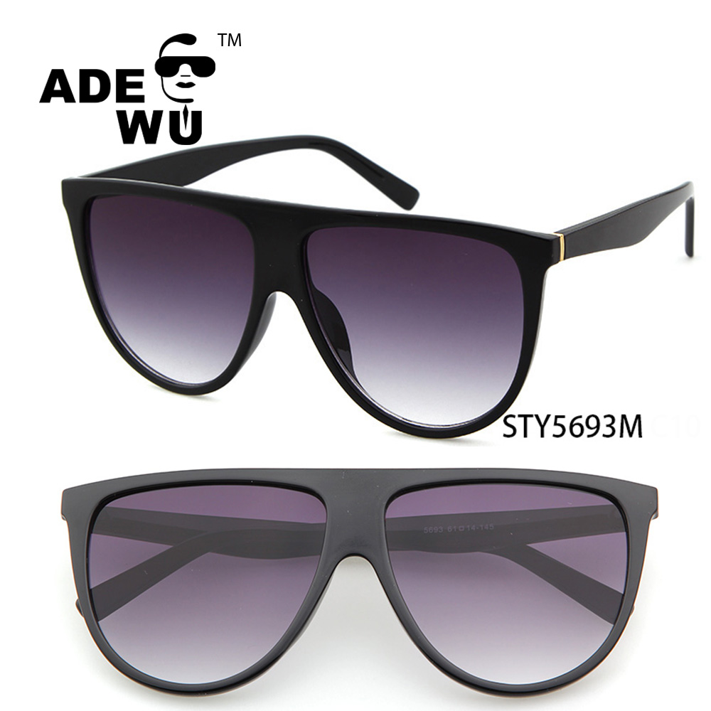 ADE WU 2017 italy brand design ce oversized hand polished sunglasses colorful conjoined wholesale china, As shown in figure