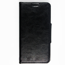 Black Leather Slim Wallet Flip Case with Kickstand For Samsung Galaxy S6 Case