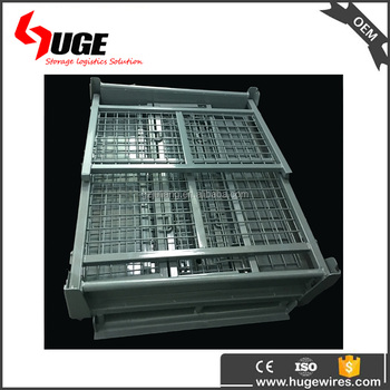 Collapsible Steel Large Scrap Metal Storage Boxes Bin For Sale