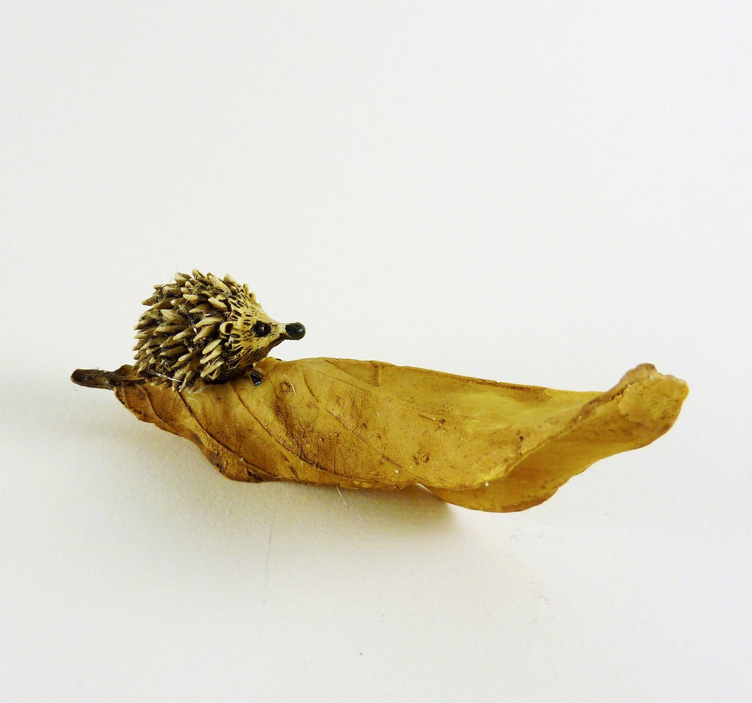 Get Quotations · Georgetown Home And Garden Hedgehog On Brown Leaf  Miniature Fairy Garden Accessory #16664