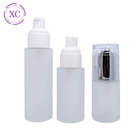 beauty care cosmetic water 120ml frosted glass spray bottle