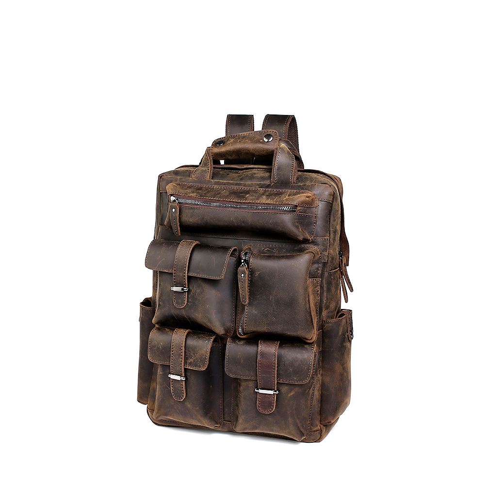 2019 New Leather Travel Backpack For Men
