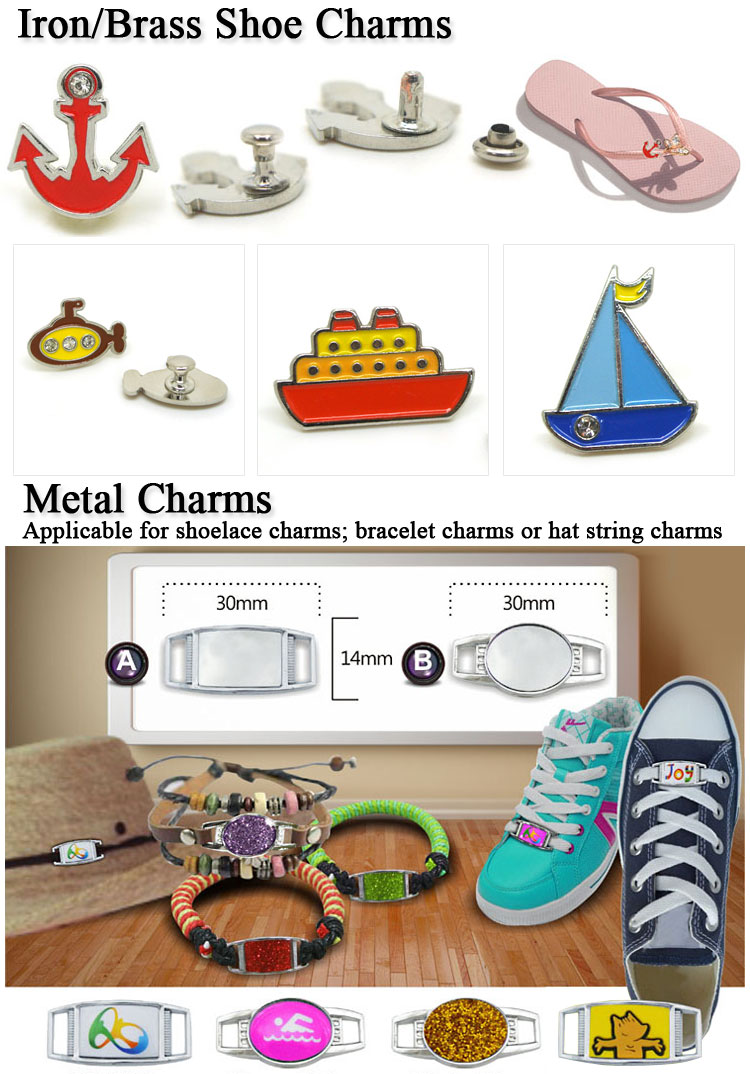 Popular Custom Made Soft PVC Shoe Charms Fitting