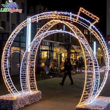 Outdoor Christmas Decoration Wire Frame Ball Light Motif